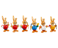 Ball shaped Easter Rabbit 6-fold assorted 10 cm - PU 48