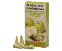 Smoking Insence KNOX PU 50 Packs - 24 cones per pack - Green Apple