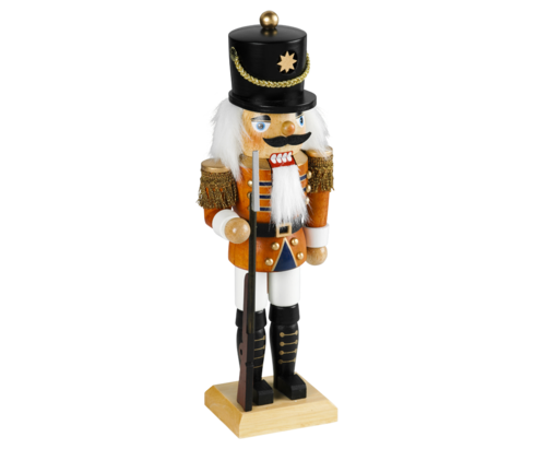 Nutcracker 18 cm coloured - Soldier - Policeman  PU 48