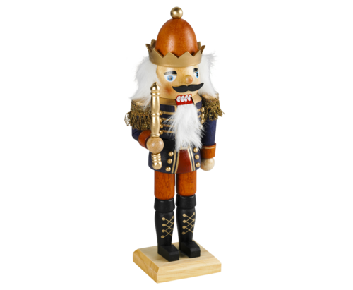 Nutcracker 34 cm coloured - King  with CrownPU 12