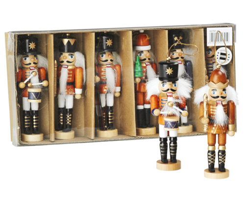 Nutcracker 12 cm (Treehanging) coloured - Assortment 8* each 50711 - 50771