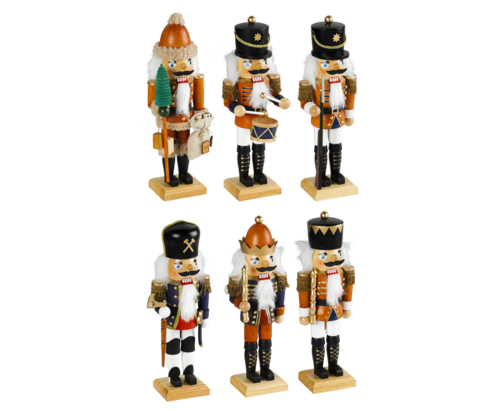 Nutcracker 45 cm coloured - Assortment 2 * 31 + 61 & 1 * 41 + 51