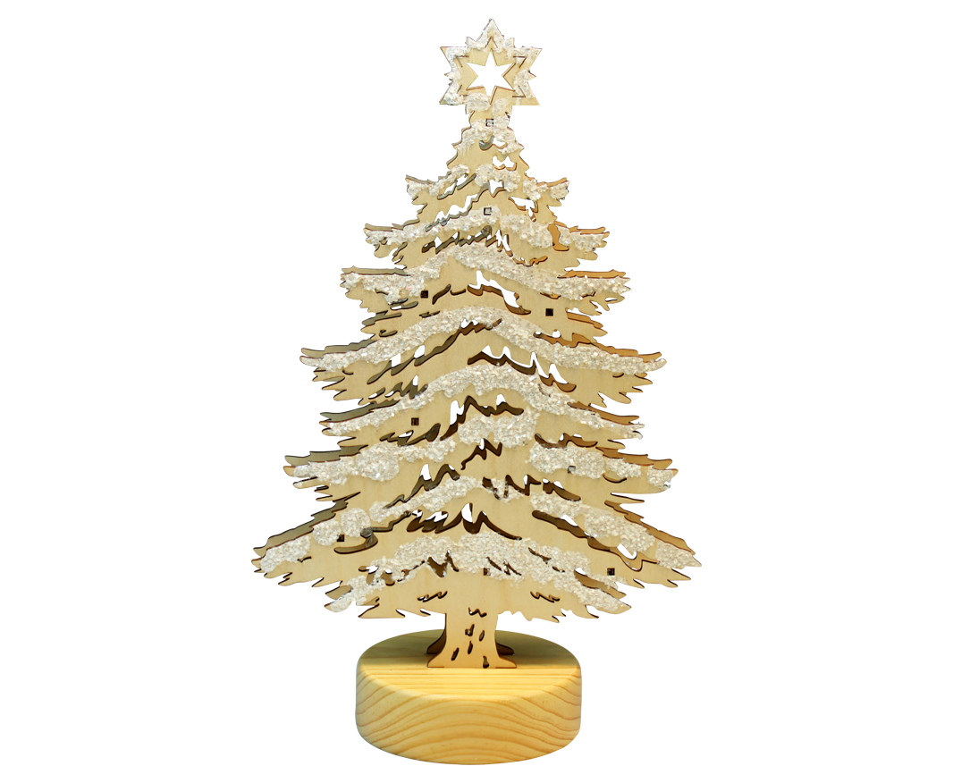 Christmas Tree With LED Lights Approx11315 Cm Natural Snow