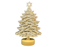 Christmas Tree with LED lights approx.11*31,5 cm natural with snow