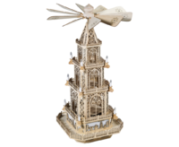 Pyramid Gothic Style 100 cm, with electric Motor and Lighting - 3 floors