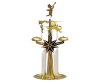 Angel Chime - Metal Pyramid - approx. 19cm - PU 16 - incl. 4 Candles