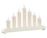 Bridgelight with 7 candle shaped LED white ca. 37*22 cm  - transformer included
