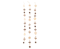 Roomdecoration Chain 3-fold assorted  natural ca. 100 cm