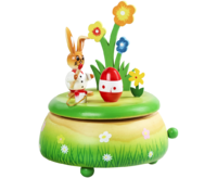 Musical Box Easter Rabitt painting egg