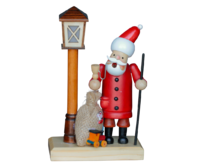 Insence Smokeman with Lantern LED CR2032 approx. 11 * 7 * 19 cm - Santa