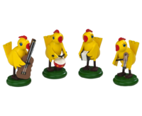 Chicken Band 5 cm  -  4-fold assorted (Set price)